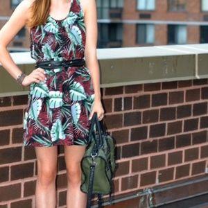 MADEWELL Silk Island Dress Jungle Print {U22}